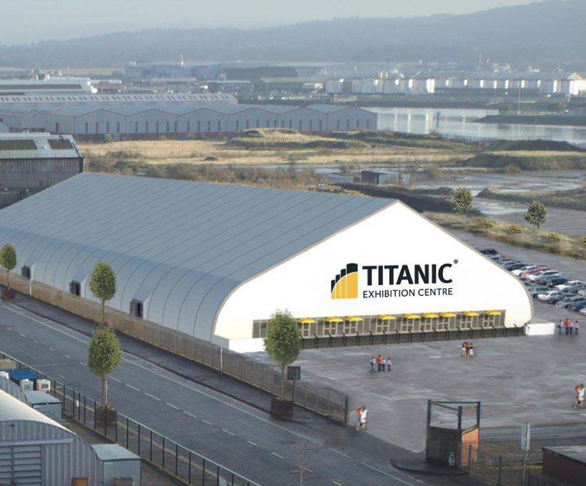 Titanic Exhibition Centre Banner